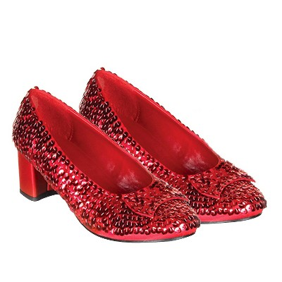 Halloween Girls' Dorothy Costume Shoes Red Sequin