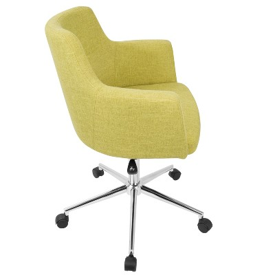 yellow office chair spray paint vinyl andrew contemporary adjustable lumisource target