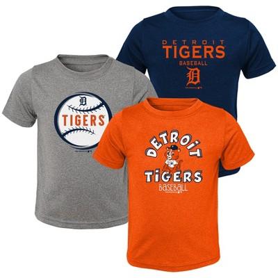 MLB Detroit Tigers Toddler Boys' Gray T-Shirt 3pk
