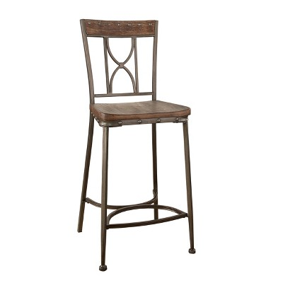 counter height chairs target ivory spandex chair covers for sale paddock non swivel stool set of 2 brushed steel metal hillsdale furniture