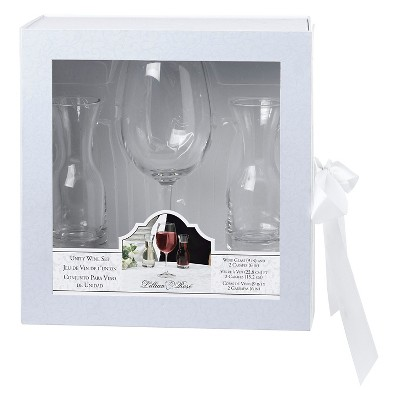 Wine Glass with 2 Carafes Ceremony Set