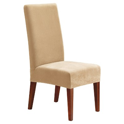 target stretch chair covers finn juhl uk pinpoint short dining room cream sure fit