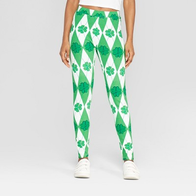 Women's Argyle Clovers Leggings - 33 Degrees (Juniors') Green