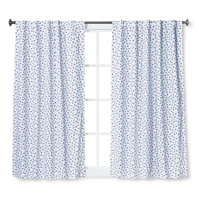 Twill Blackout Curtain Panel Arrow Print Blue - Pillowfort™