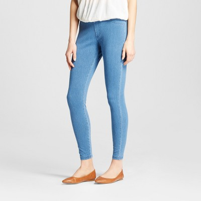 Women's High Waist 5-Pocket Jeggings - A New Day™ Light Washed Blue