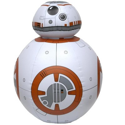 """Swim Way 26"""" Star Wars BB-8 Life Sized Droid Inflatable 2-Person Swimming Pool Toy - Gold/White"""
