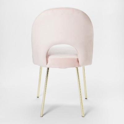 pink vanity chair lightweight beach chairs uk velour accent project 62 target