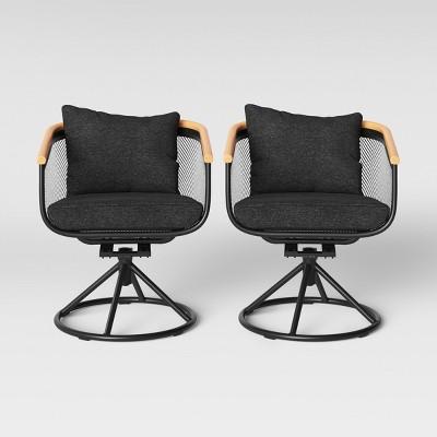 bangor 2pk swivel rocker patio dining chair charcoal project 62