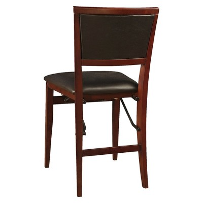 cushioned folding chairs breakfast table set of 2 keira padded back chair linon target
