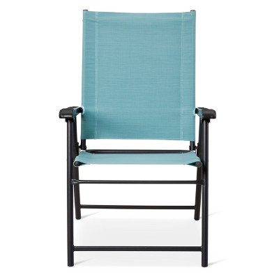 turquoise patio chairs lounge sling folding chair threshold target