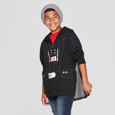 Boys' Star Wars Darth Vader Villain Hooded Sweatshirt - Black