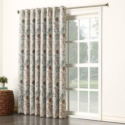 84 x100 helen extra wide energy efficient sliding room darkening door curtain panel stone sun zero