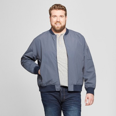 Men's Big & Tall Matte Bomber Jacket - Goodfellow & Co™ Geneva Blue
