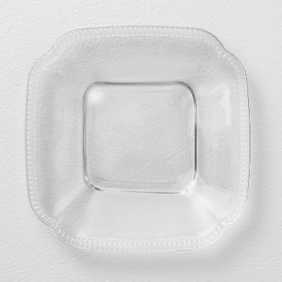 Glass Appetizer Plate Square Clear - Hearth & Hand™ with Magnolia