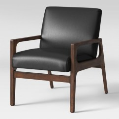 Wood And Leather Chair Stackable Conference Room Chairs Peoria Arm Black Faux Project 62 Target