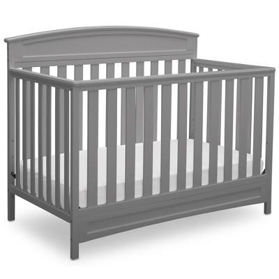 Delta Children Sutton 4-in-1 Convertible Crib  - Gray