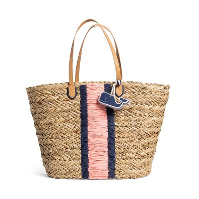 straw beach bag with