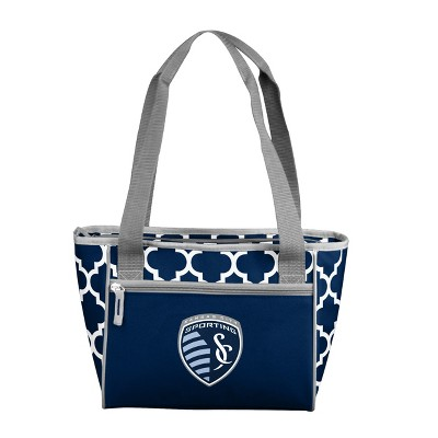 MLS Sporting Kansas City Quatrefoil 16 Can Cooler Tote