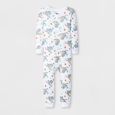 Toddler Boys' Dumbo Blanket Sleeper - White
