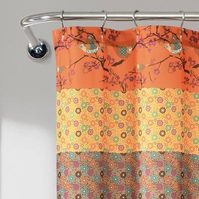 orange shower curtains target