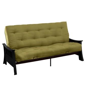 foam sofa sleeper good product to clean leather shanghai 8 cotton futon black wood finish green full size epic furnishings target