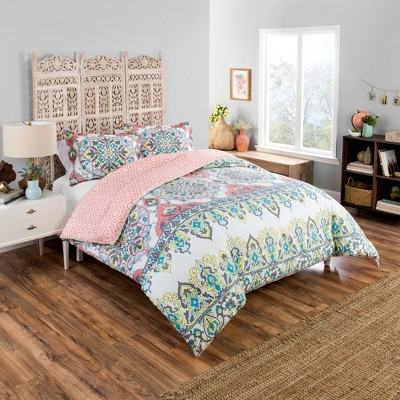 Boho Boutique Rozella Reversible Comforter & Sham Set