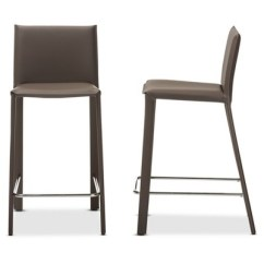 Upholstered Counter Height Chairs Wedding Chair Covers And Sashes For Hire Crawford Modern Contemporary Leather Stool Taupe Baxton Studio Target