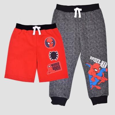 Toddler Boys' Marvel Spider-Man Pants & Shorts Set - Black