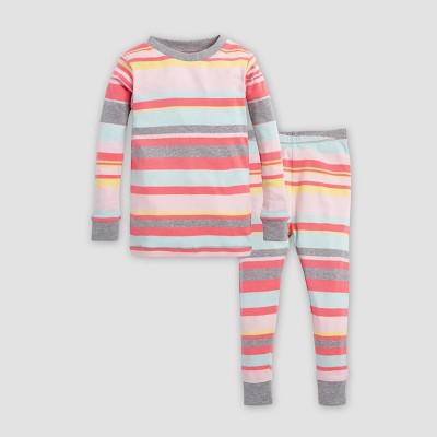 Burt's Bees Baby® Toddler Girls' Stripe Organic Cotton Pajama Set - Pink