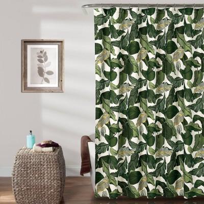 tropical paradise shower curtain green lush decor
