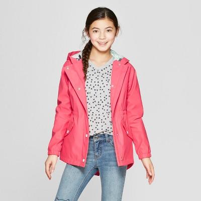 Girls' Rain Jacket - Cat & Jack™ Coral