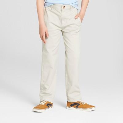 Boys' Flat Front Uniform Chino Pants - Cat & Jack™