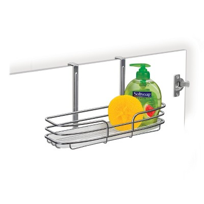 Lynk Professional Over Cabinet Door Organizer - Single Shelf with Molded Tray Chrome