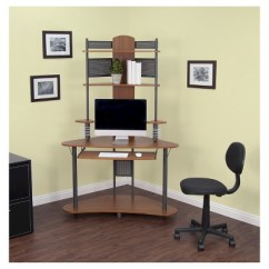 Corner Desk Chair Wheelchair Van For Rent Arch With Multi Level Storage Pewter Teak Target 1 More