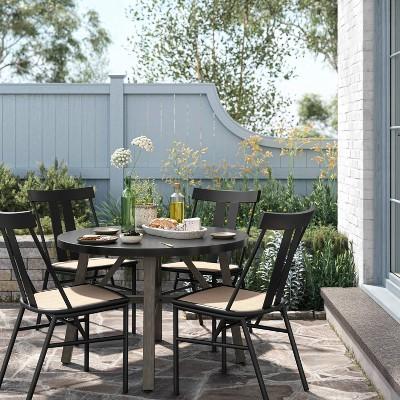 round concrete patio dining set smith