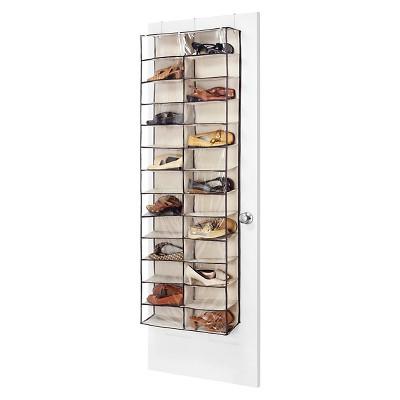 whitmor over the door shoe shelves brown