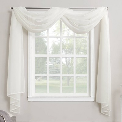 216 x59 emily sheer voile window curtain scarf eggshell no 918