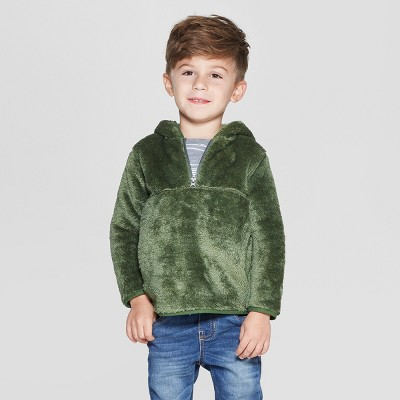Toddler Boys' Teddy Bear Fleece Hoodie - Cat & Jack™ Green