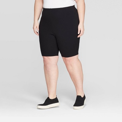 Women's Plus Size Bike Shorts - Prologue™ Black