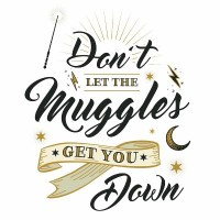 RoomMates Harry Potter Muggles Quote Peel And Stick : Target