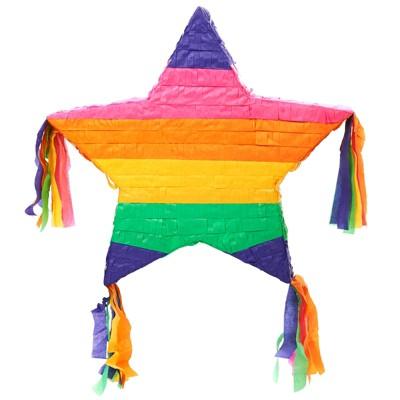 Rainbow Star Pinata Party Accessories