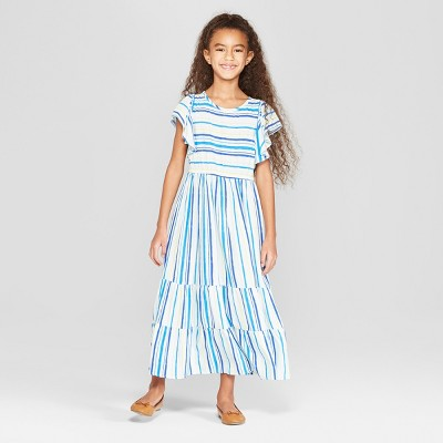 Girls' Woven Maxi Dress - Cat & Jack™ Blue