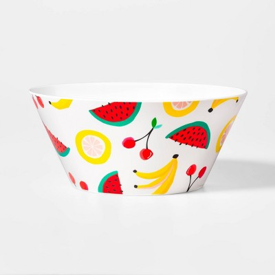 107oz Plastic Fruit Salad Print Serving Bowl - Sun Squad™