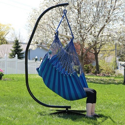 rope chair swing brown parsons chairs beach oasis jumbo hanging hammock target 1 more