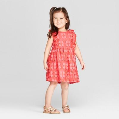 Genuine Kids® from OshKosh Toddler Girls' Tile Lace Dress - Neon Pink