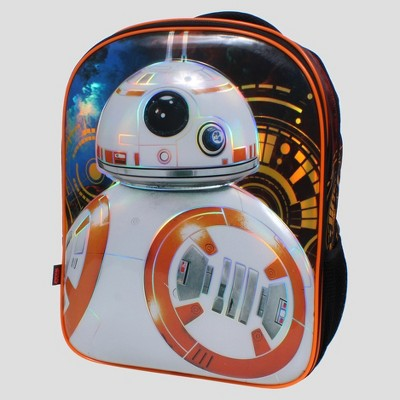 """Star Wars® BB8 16"""" Kids' Backpack with Beanie and Lights"""