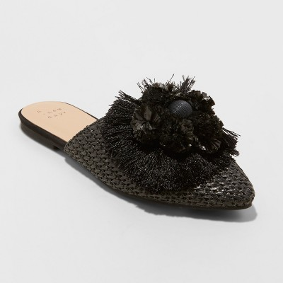 Women's Ema Mules - A New Day™ Black