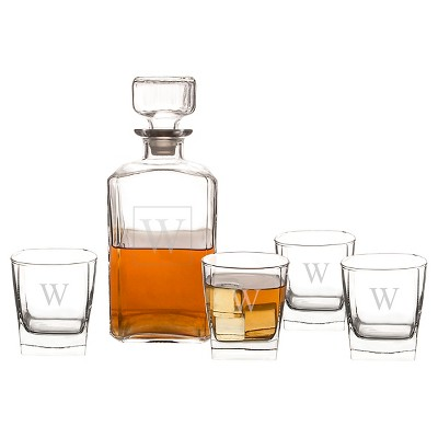 Cathy's Concepts® 5pc Monogram Decanter Set A-Z