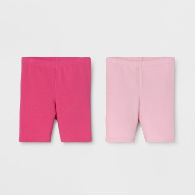 Toddler Girls' Trouser Shorts - Cat & Jack™ Dark Pink/Light Pink