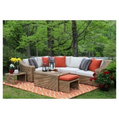 Sunbrella Fabric Sectional Sofas Best Sofa For Pet Hair Arizona 8 Piece With Vibrato Parchment